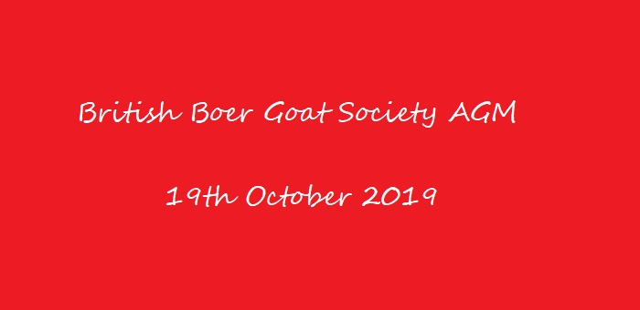 British Boer Goat AGM