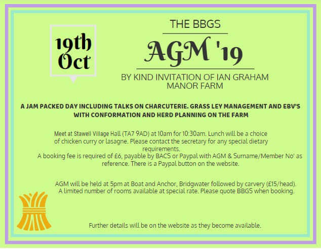 British Boer Goat AGM 2019