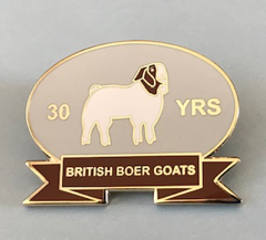 BBGS members 30 years commemorative Pin Badge